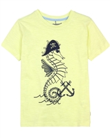 Deux par Deux Printed T-shirt in Yellow Only Pirates Allowed
