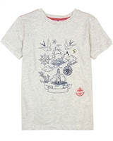 Deux par Deux Printed T-shirt in Gray Only Pirates Allowed
