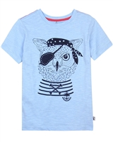 Deux par Deux Printed T-shirt in Blue Only Pirates Allowed