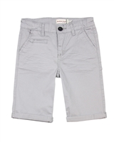 Deux par Deux  Twill Bermuda Shorts in Gray Only Pirates Allowed