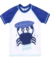 Deux par Deux Rash Guard T-shirt with Crab Print Playa Del Mar
