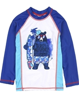 Deux par Deux Rash Guard T-shirt with Bear Print Playa Del Mar