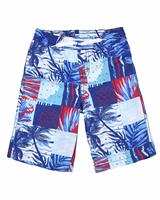 Deux par Deux Surfer Shorts in Ocean Print Playa Del Mar