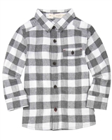 Deux par Deux Boys Plaid Shirt Go Mecano