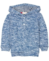 Deux par Deux Boys Hooded T-shirt in Blue Go Mecano