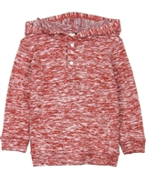 Deux par Deux Boys Hooded T-shirt in Red Go Mecano