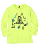 Deux par Deux Boys T-shirt with Bear and Forest Print Forest Fest