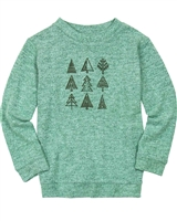 Deux par Deux Boys Knit T-shirt in Green Forest Fest
