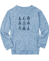 Deux par Deux Boys Knit T-shirt in Blue Forest Fest