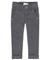 Deux par Deux Boys Gray Twill Pants Forest Fest