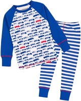 Deux par Deux Boys Pyjamas Set in Car Print