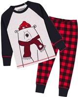 Deux par Deux Boys Pyjamas Set with Christmas Bear