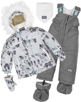 Deux par Deux Little Boys' 2-Piece Snowsuit Enchanted Forest
