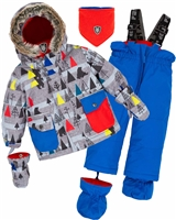 Deux par Deux Little Boys' 2-Piece Snowsuit Forest Exploration