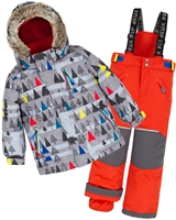 Deux par Deux Boys' 2-Piece Snowsuit Forest Exploration