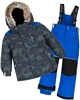 Deux par Deux Boys' 2-Piece Snowsuit Camo Animo Blue