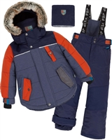 Deux par Deux Boys' 2-Piece Snowsuit Back to Cool Navy
