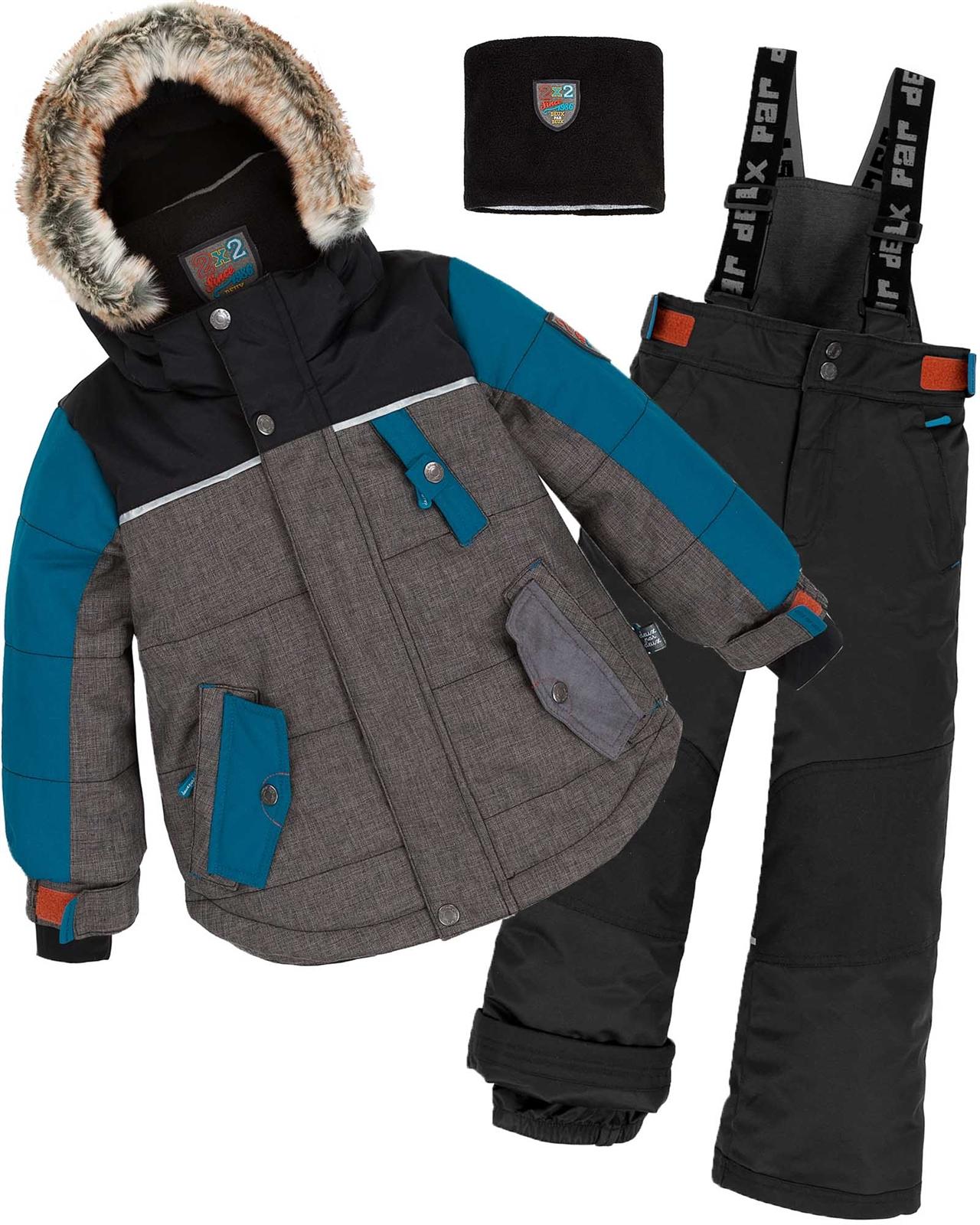 f30bee948 Deux par Deux Boys  2-Piece Snowsuit Back to Cool Black - Deux par ...