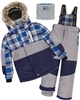 Deux par Deux Boys' 2-Piece Snowsuit Forest Runner Gray