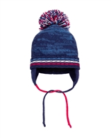 Deux par Deux Boys Ear-Flap Hat Slalom Trails