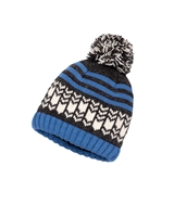 Deux par Deux Boys Beanie Hat Snow in the City in Blue