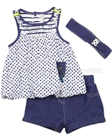 Deux par Deux Top and Shorts Set Un Pois a la Fois