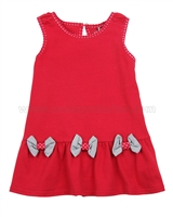 Deux par Deux Red Tunic with Bows Doxie Love