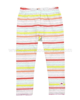 Deux par Deux Striped Leggings Feathery Friend