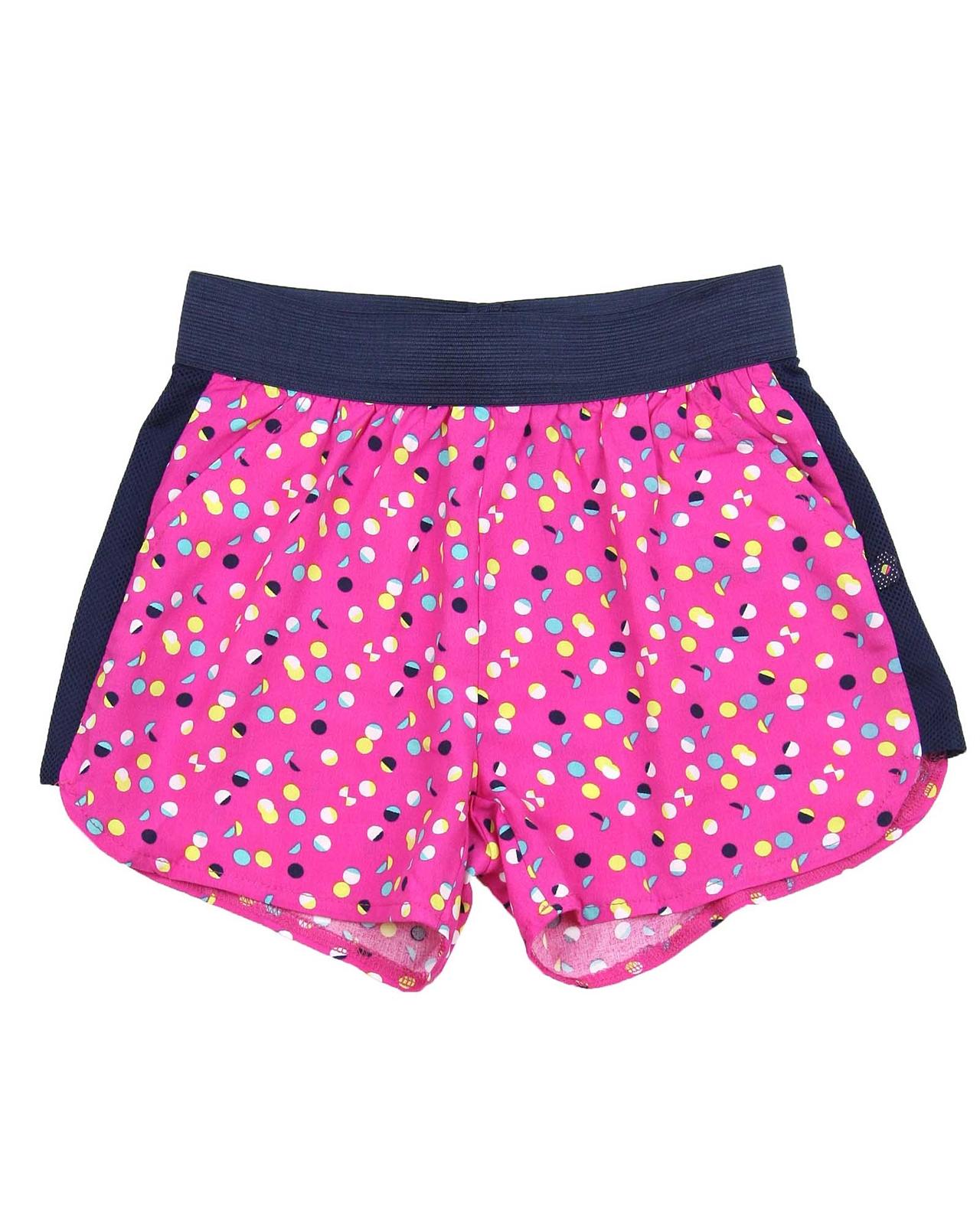 Deux par Deux Girls Printed Shorts Fushia Toucan Do It Sizes 4-12