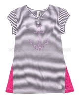 Deux par Deux Striped Top with Lace Je men Fish