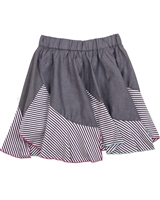 Deux par Deux Chambray Skirt Je men Fish