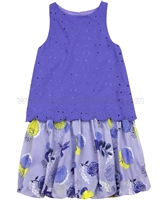 Deux par Deux Balloon Shaped Dress Blue Colibri Joli