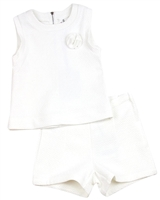 Deux par Deux Milano Top and Shorts White A la Une
