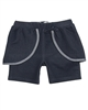 Deux par Deux Jegging Shorts Navy