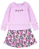 Deux par Deux 2-in-1 Orchid Sweatshirt Dress Fluffy Friends