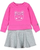 Deux par Deux 2-in-1 Fushia Sweatshirt Dress Fluffy Friends