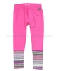 Deux par Deux Fushia/Striped Leggings Fluffy Friends