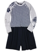 Deux par Deux 2-in-1 Sweater and Shorts Set Rose Ballad