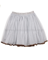 Deux par Deux Gray Tulle Skirt Dancing Queen
