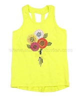 Deux par Deux TYellow Tank Top So Happy