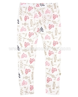 Deux par Deux Printed Leggings Rose Bonbon