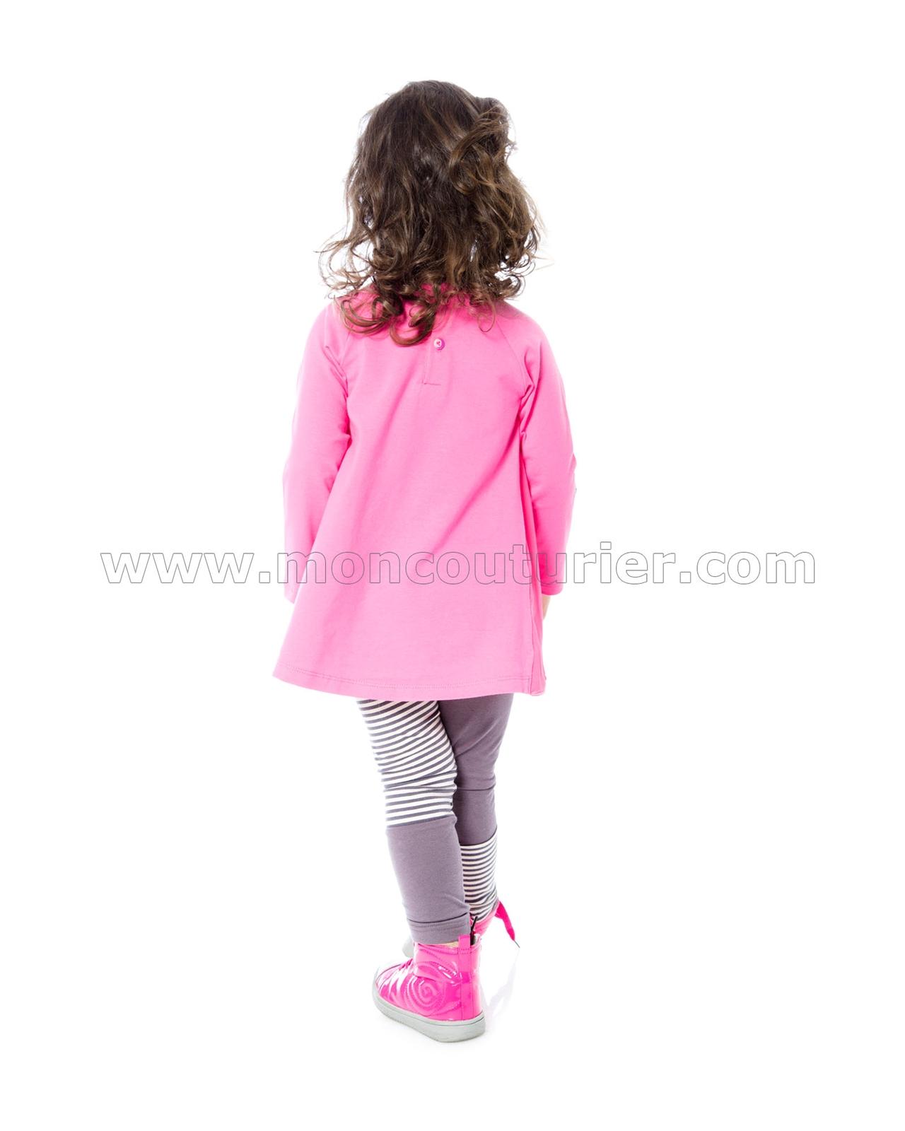 Deux par Deux Girls Pink Two-colour Leggings Cuddles and Hugs Sizes 18M-6