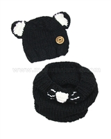Deux par Deux Hat and Neck-warmer Set Chit Chat