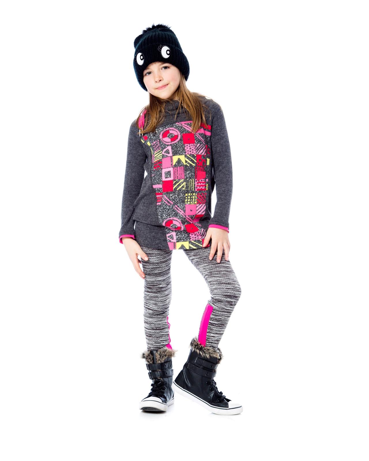 Deux par Deux Girls Textured Leggings an Eye on Fashion Sizes 5-12