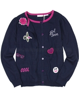 Deux par Deux Navy Knit Cardigan Rock n Rose