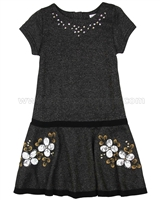 Deux par Deux Dress with Flower Applique Starmania