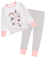 Deux par Deux Stripe and Dots Pants Pyjamas Set