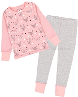 Deux par Deux Print and Dots Pants Pyjamas Set