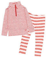 Deux par Deux Girls' 2-Piece Thermal Underwear Set