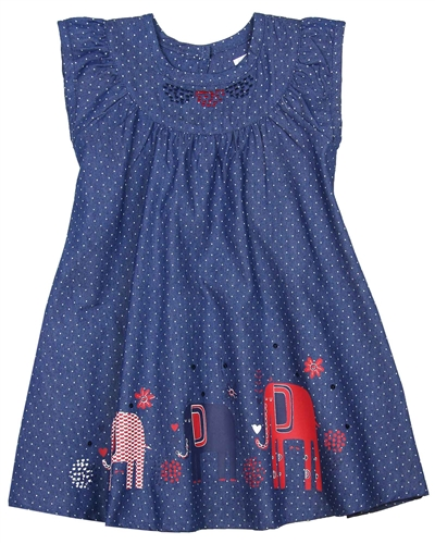 Deux par Deux Polka Dot Dress Red Orchid